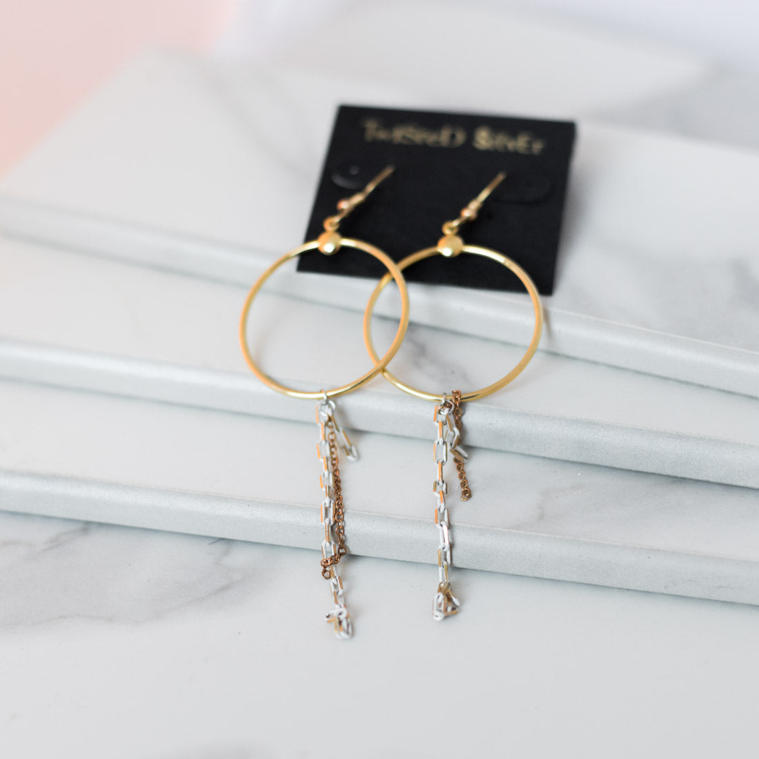 SOLEIL Earrings - Twisted Silver