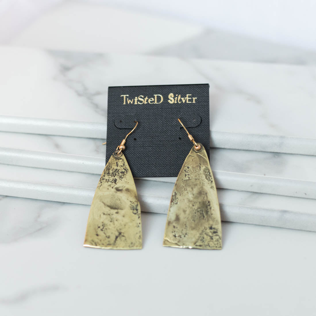 PYRAMID Earrings - Twisted Silver Jewelry