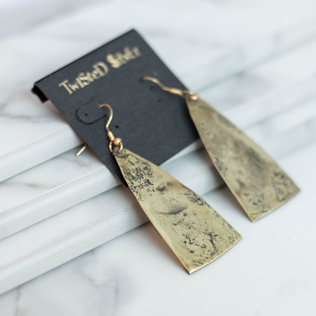 Twisted Silver Jewelry - Pyramid Earrings