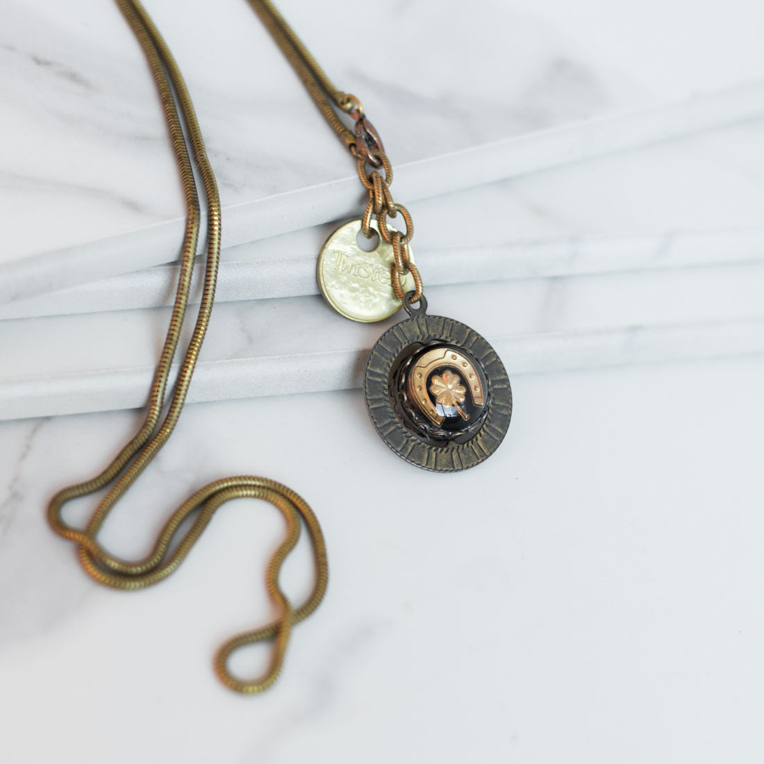Twisted Silver Jewelry - Lucky Necklace