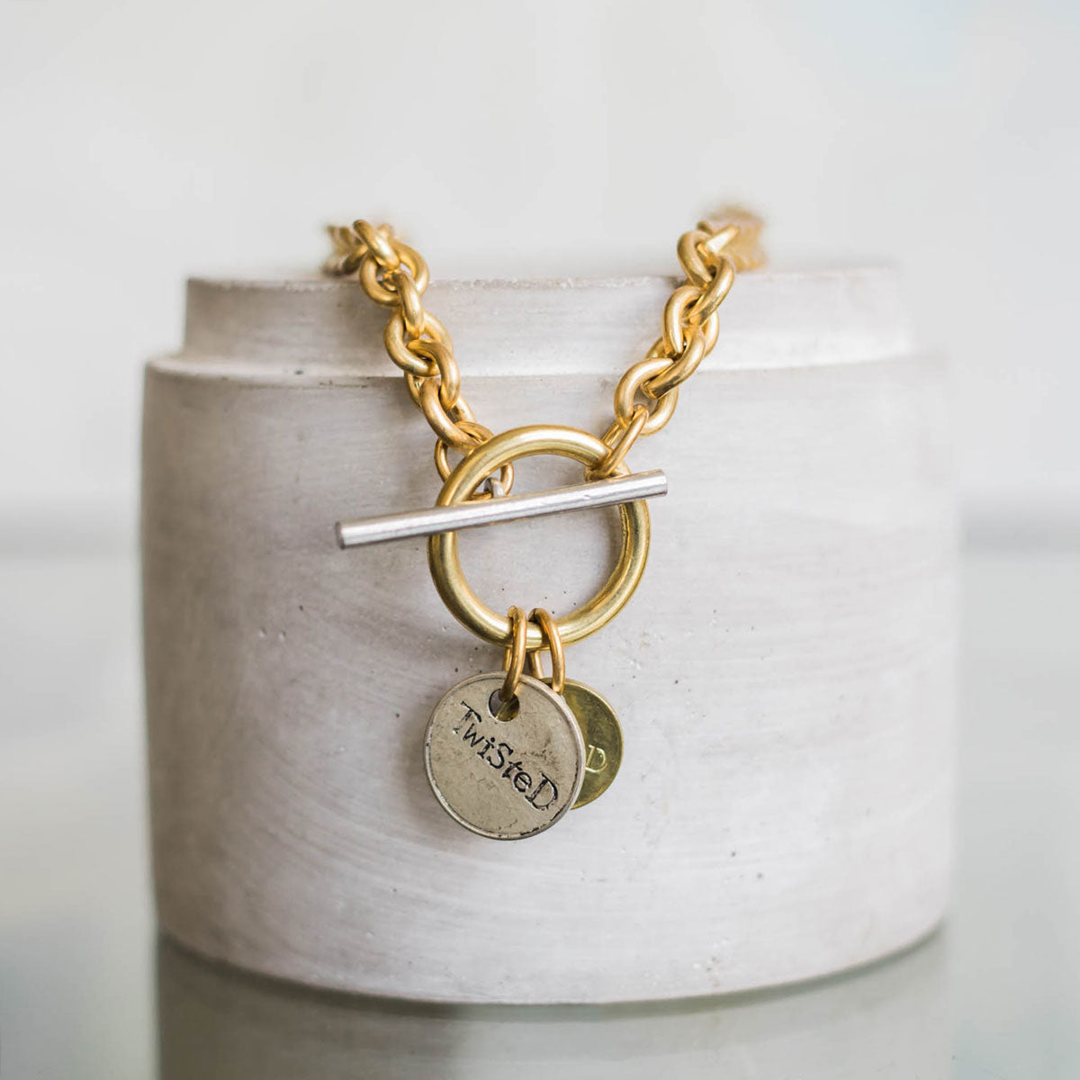 Twisted Silver Jewelry - Brass Capture Necklace