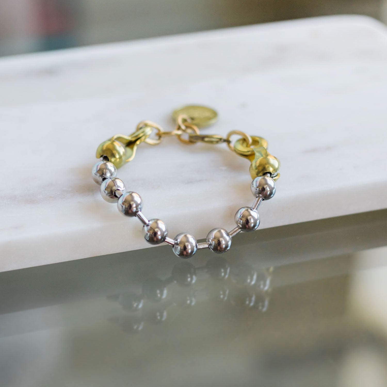 BALL & CHAIN Bracelet - Twisted Silver Jewelry