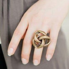 KNOT Ring - Twisted Silver