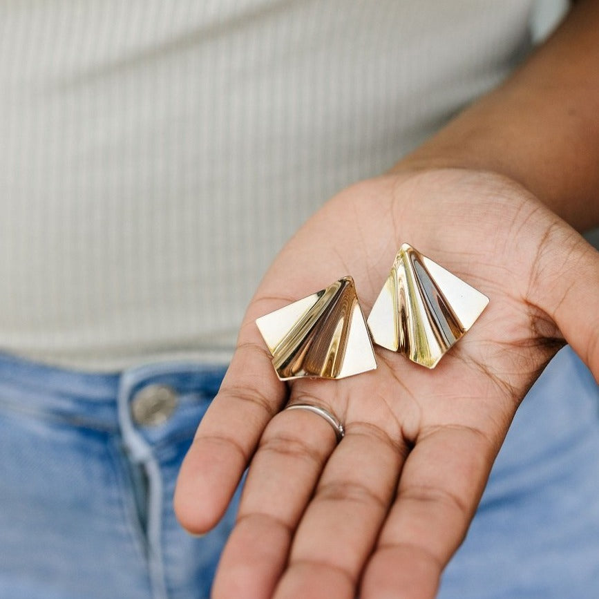 PAPER AIRPLANE Earrings - Twisted Silver Jewelry