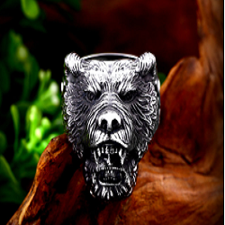 Viking Bear Ring for Men