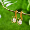 Flower Dangle Fine Jewelry Earrings for Women