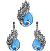 Opal Peacock Jewelry Sets - Earrings, Ring