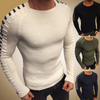 Autumn Winter Sweater Men Casual Pullover Men Long Sleeve O-Neck Patchwork Knitted Men Sweaters Streetwear