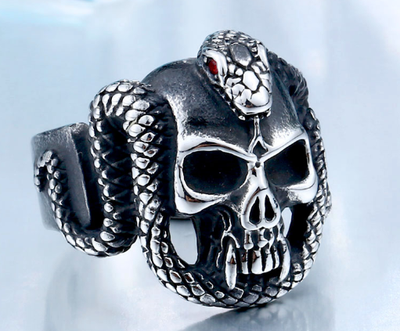 Stainless Steel Vintage Snake Ring