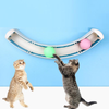 Pet Cat Crazy Ball Disk Interactive Toys Amusement Funny Double Ball Orbit Cat Toys Interactive Disk with Balls for Cats Toys