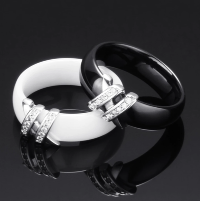 Two Lines Crystal Ring