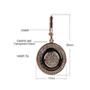 Rose Gold Round Black Earrings Micro Wax Inlay Natural Zircon Black Ceramic  Stud Earring