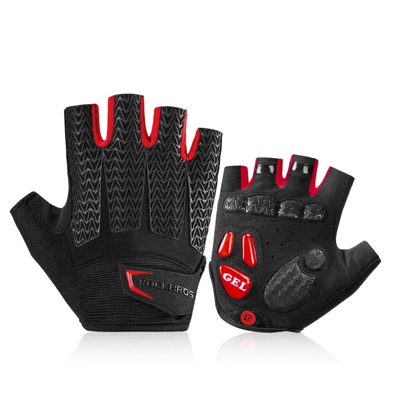 Cycling Gloves Mountain Bike Half Finger Gloves Gym Fitness Non-Slip Sports Gloves