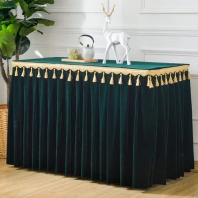 Table Cloth & Skirt Soft Velvet Fabric Table Cover Decoration