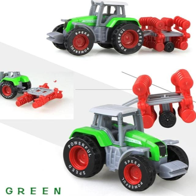 Die-Cast Farm Vehicles Engineering Car Tractor Model for Kids