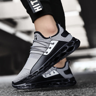 Stylish Running Shoes for Men Air Breathable Lightweight Sports Shoes Black Red Male Gym Sneakers