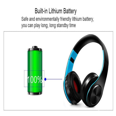 New Portable Wireless Headphones Bluetooth Stereo Fordable Headset