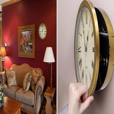 Vintage Wall Clock Safe Box Creative Hidden Secret Storage Box for Cash Money Jewelry Home Office