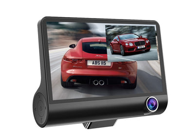 Car DVR 3 Cameras Lens 4.0 Inch Dash Camera Dual Lens with Rearview Camera Video Recorder