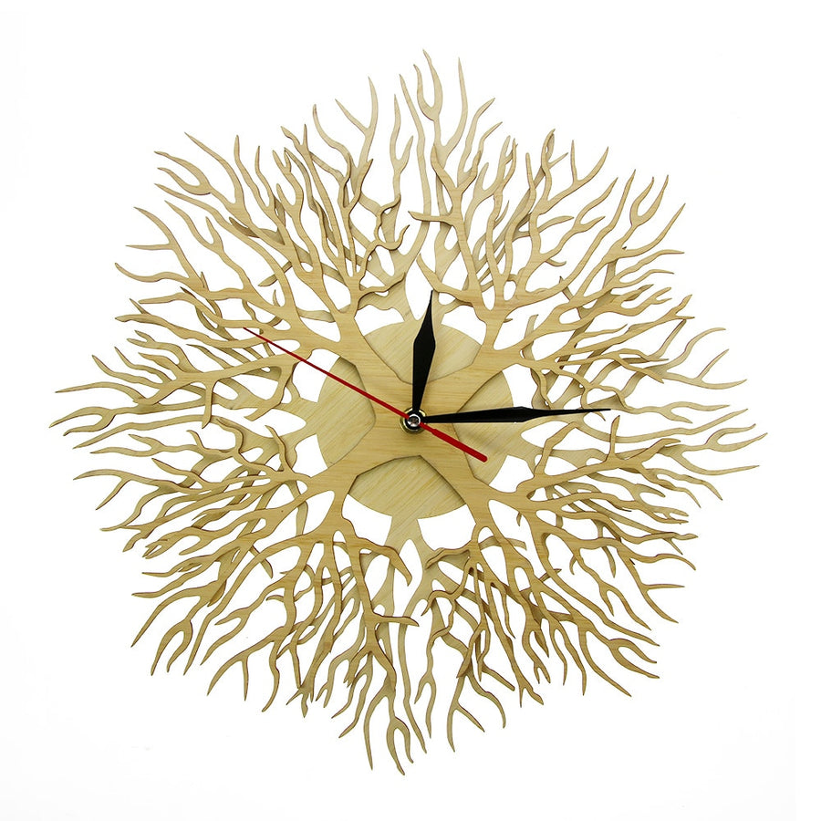 Wood Forest Masterpiece Tree of Life Wall Clock Tree on The Clock Rustic Wood Art Decor Hanging Watch Timepiece
