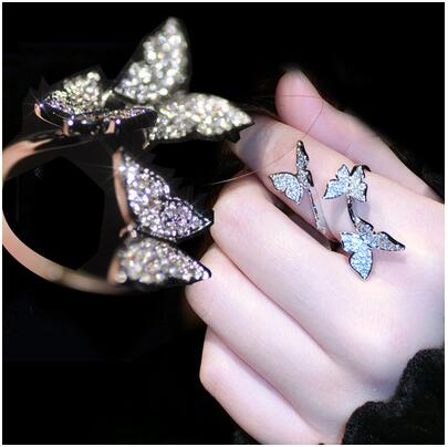 Colorful Resizable Inlay Zircon Ring Fashion Jewelry Ring