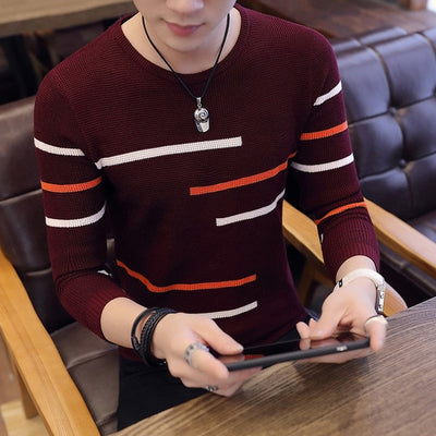 Long Sleeve Knitted Sweater for Men