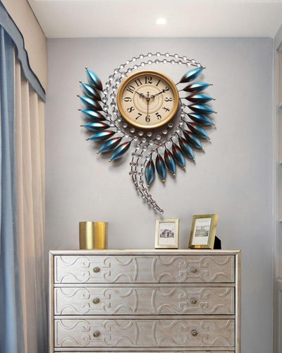 Large 3D Wall Clock Metal Modern Design Wall Art for Home Corridor Living Room Bedroom
