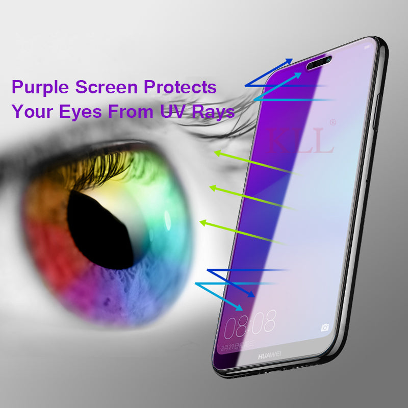 Anti-Blue Ray Full Cover Screen Protector HD Film for Huawei