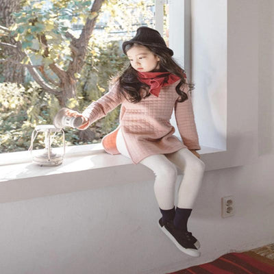 Children Winter Thick Warm Trousers Girls Cotton Leggings Warm Elastic Waist