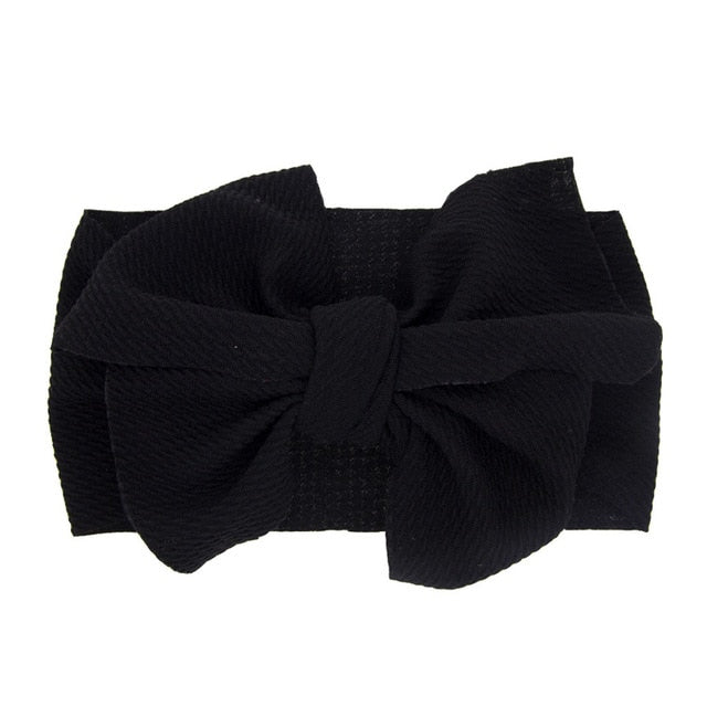 Baby Elastic Headbands Kids Bow Knot Widened Hairbands Hair Accessories Headwear