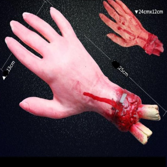 Halloween Horror Decoration Broken Finger Hand Bloody Props Scary Fake Leg Foot Brain Heart Halloween Prop Supplies