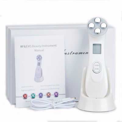 5 in 1 RF & EMS Radio Frequency LED Photon Face Beauty Rejuvenation Remover Wrinkle