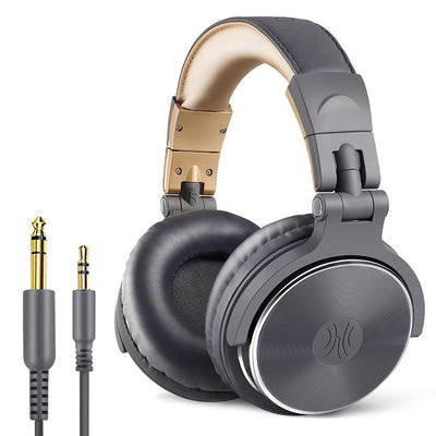Dynamic Stereo DJ Headphones Professional Studio with Microphone HIFI Wired Headset