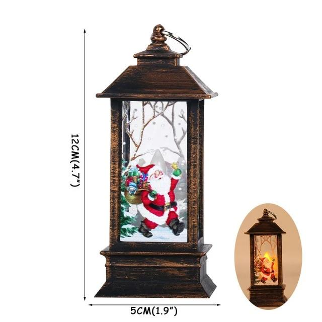 New Year Ornament DIY Christmas Tree Decorations for Home Lantern LED