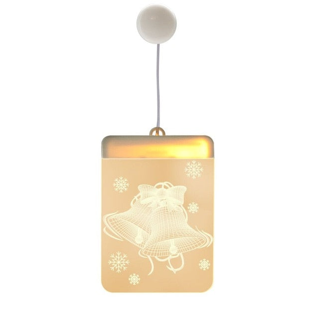 Christmas Santa Claus Elk Bell LED Fairy Lights Ornaments Christmas Decoration for Home
