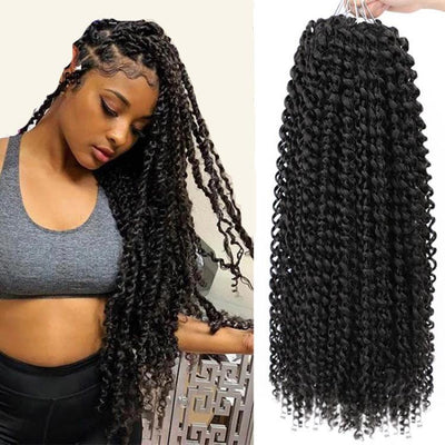 Bohemian Twist Crochet Hair Afro Kinky Curly 18 Inch Long Synthetic Passion Twist Natural Hair Extension