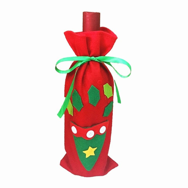 Christmas Wine Bottle Bags Cover Gift Champagne Holders