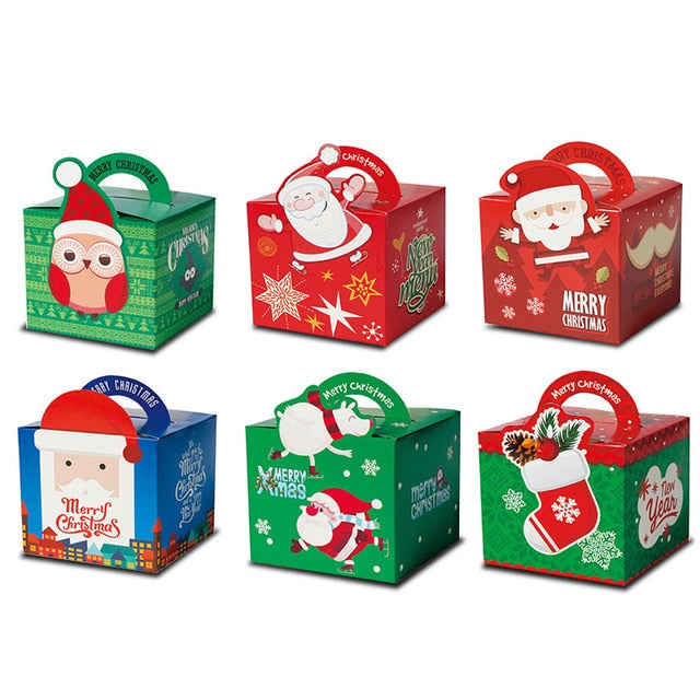12pcs Christmas Cartoon Candy Boxes Gift Bags for Kids