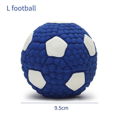 Soft Latex Pet Dog Toy Ball Squeak Toys Cleaning Tooth Chew Voice Toy Pet Supplies Non-toxic Training Balls Durable