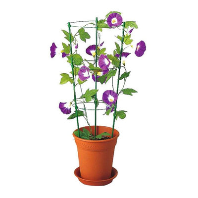45cm/60cm Climbing Vine Rack Plant Flower Vegetables Potted Trellis Support Frame Plastic Coated Steel