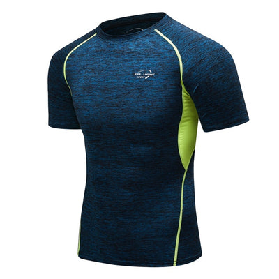 Gym & Fitness T-Shirt Running Sport Jersey for Men Breathable Short Sleeve Quick-Drying Shirt