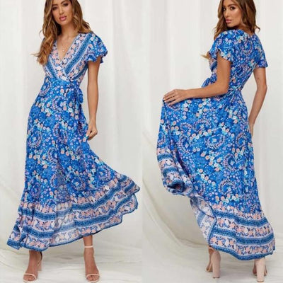 Split Sexy Long Beach Summer Dress Elegant Party Maxi Dress