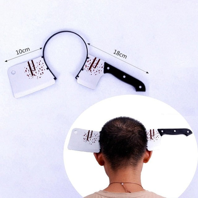 Horror Headband Halloween Decoration Scary Knife Halloween Accessories Props Halloween Party Supplies Event Party Decor