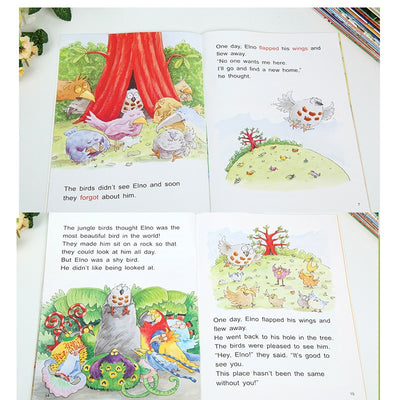 English Enlightenment Storybook Children Color Picture Books Reading Story Book for Kids Bedtime Stories Random 6 Books 21x15cm