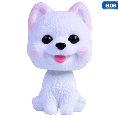 Car Ornament PVC Cute Shaking Head Dog Automobiles Interior Nodding Puppy Doll Decoration