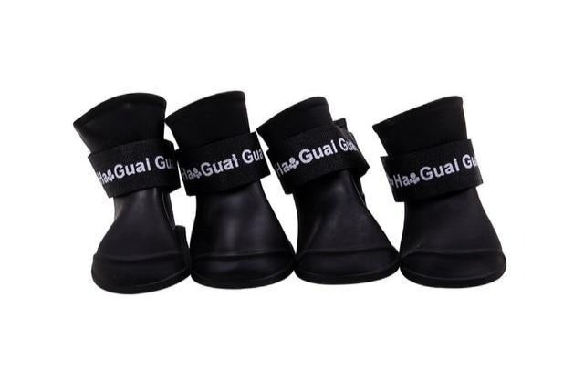 4pcs S/M/L Pet Dog Rain Shoes Anti Slip Waterproof Pet Dog Cat Rain Shoes Rubber Boots for Pet
