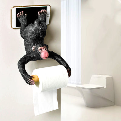 Paper Towel Holder Monkey Wall Hanging Bathroom Storage Box Decorative Kitchen