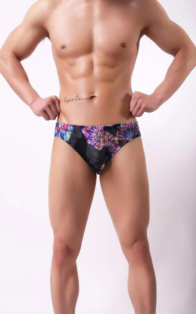 Long Boxer Shorts Printing Sexy Big U Convex Pouch Half-Length Boxers Long Leg Underpants