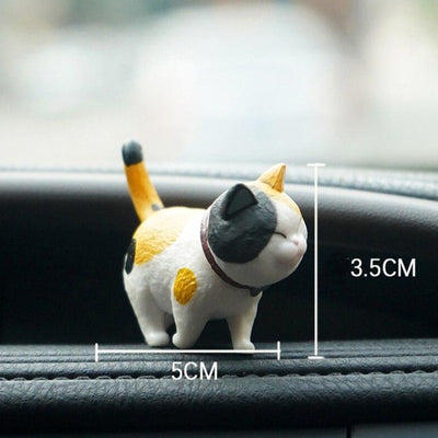 9Pcs/set Car Ornaments Cute Cats Dashboard Decoration Lovely Cat Doll Toy Car-styling Interior Accessories Gift