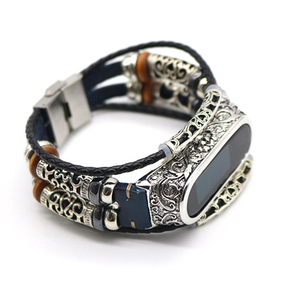 Retro Genuine Leather Watch Band Bracelet for Xiaomi Mi Band 4 Wristband Accessories